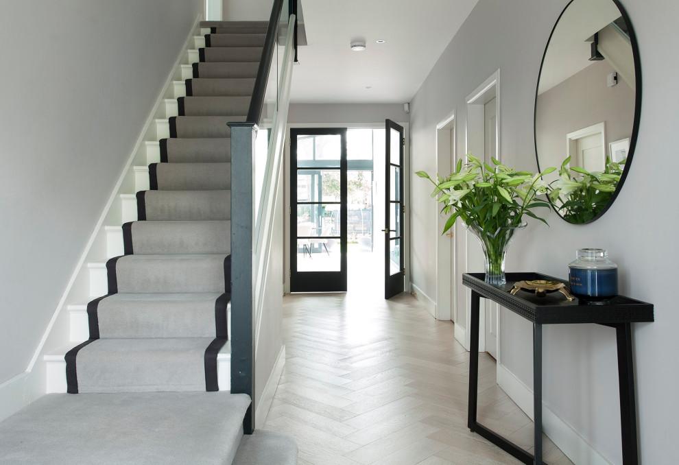 Example of a trendy home design design in Dublin