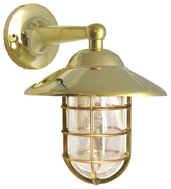 Beau Large Hooded Wall Mount By Shiplights For Interior/Exterior Use, Clear Glass