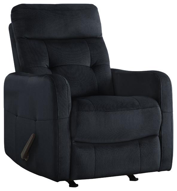 ProLounger Rocker Recliner Chair, Blue Velour