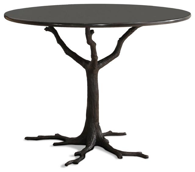 Bijou Global Bazaar Black Tree Branch Iron Marble Petite Dining Table