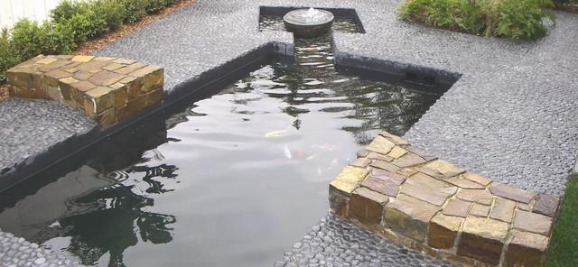 Contemporary style koi pond asian garden san diego for Koi fish pond kelowna