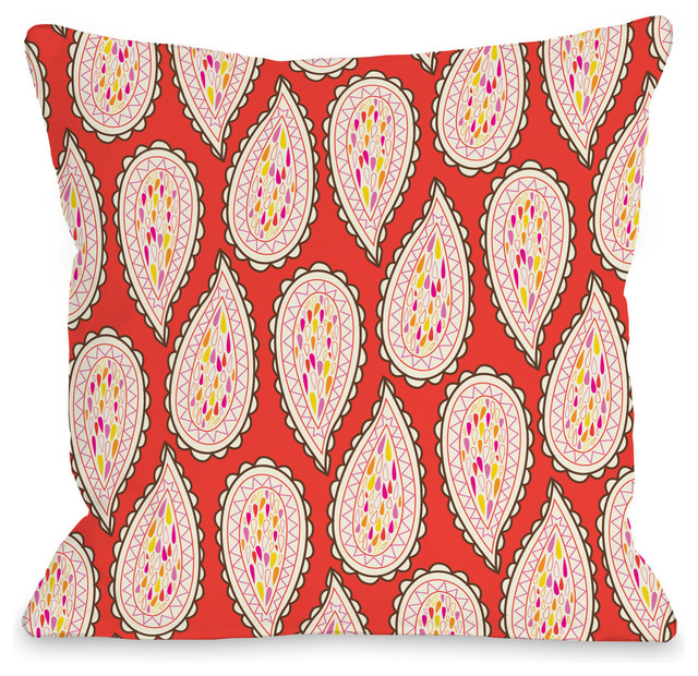 Paisley Pattern Outdoor Throw Pillow By Mary Beth Contemporary