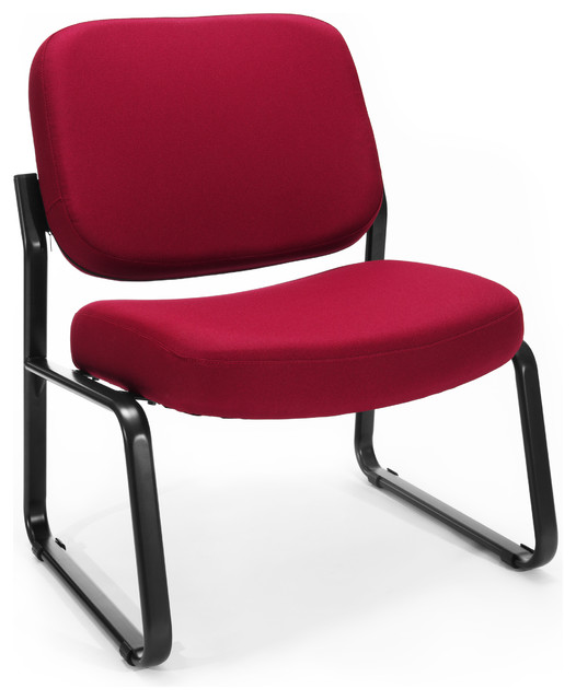 Wondrous Ofm Big And Tall Armless Guest Reception Chair Wine Home Interior And Landscaping Ologienasavecom