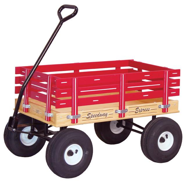 Amish Heavy Duty Childrenu0027s Wagon, Classic Red Farmhouse Wheelbarrows And  Garden