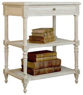 Eloquence Napoleon Nightstand in Antique White - Traditional - Nightstands And Bedside Tables ...
