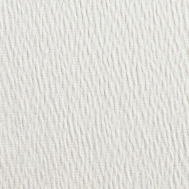 White Solid Ripple Texture Look Upholstery Fabric By The