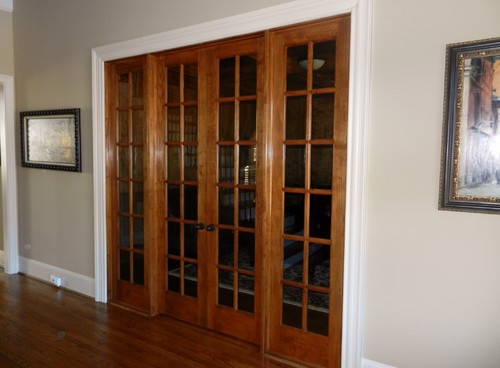 & Black White or Stained French Doors