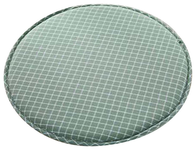 Creative Round Warm Sponge Bar Stool Pad Green Modern Seat Cushions By
