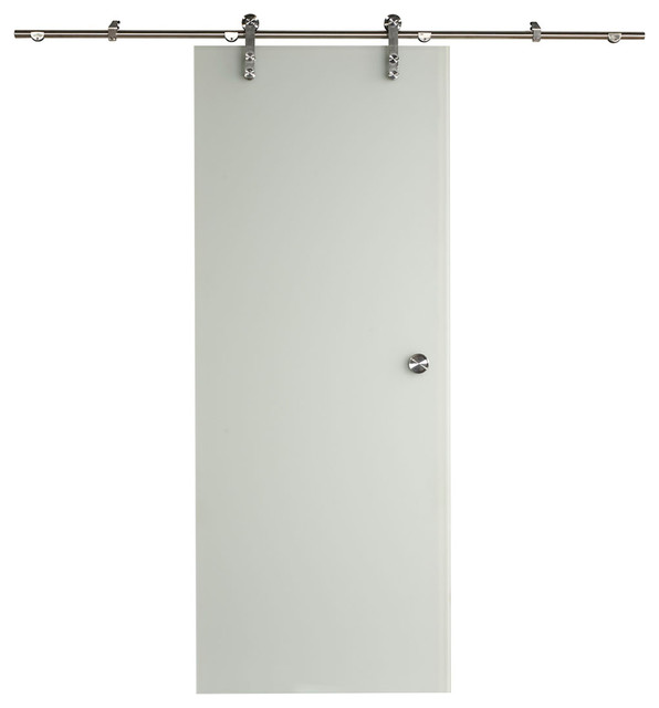 "New Vision Ice Glass Barn Door Kit, 32""x80""."