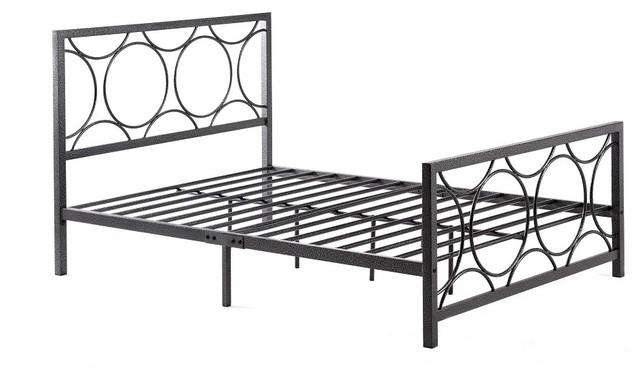 Contemporary Metal Bed, Queen.