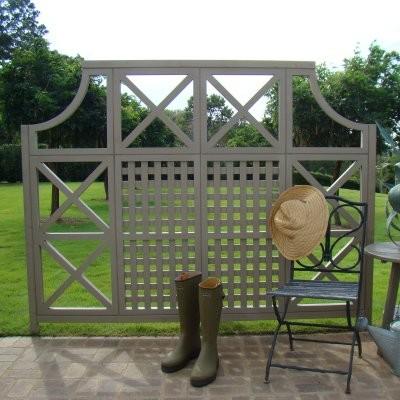 Yardistry Cedar Garden Trellis   Modern   Gazebos   By Hayneedle
