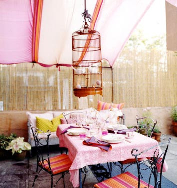 eclectic patio- dominomag eclectic patio