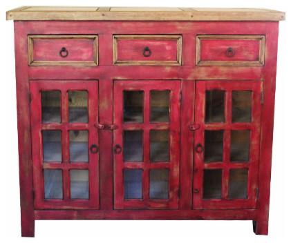 """Distressed Bathroom Vanities distressed reclaimed vanity, red, 48"""" - farmhouse - bathroom"""