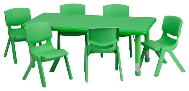 Preschool Activity Table Set Green