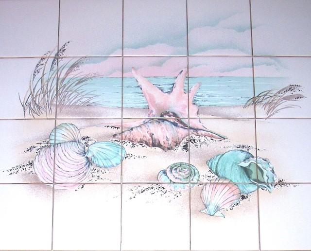 Mottles Murals Ceramic Tiles Sea Shell Kiln Fired