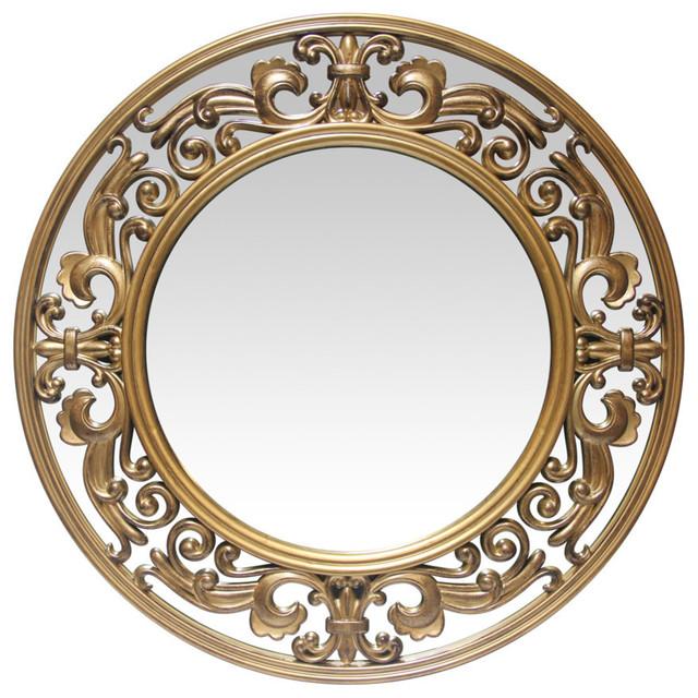 """Victoria Round Wall Mirror, 23.5""""."""