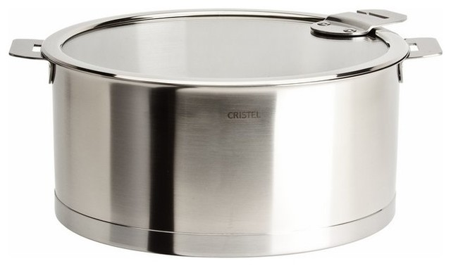 Cristel Strate Removable Handle, 6.97 Qt Stew Pan With Lid.