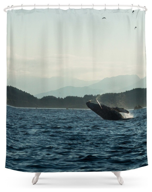 Society6 Society6 Scenic Photo Of Breaching Humpback Whale