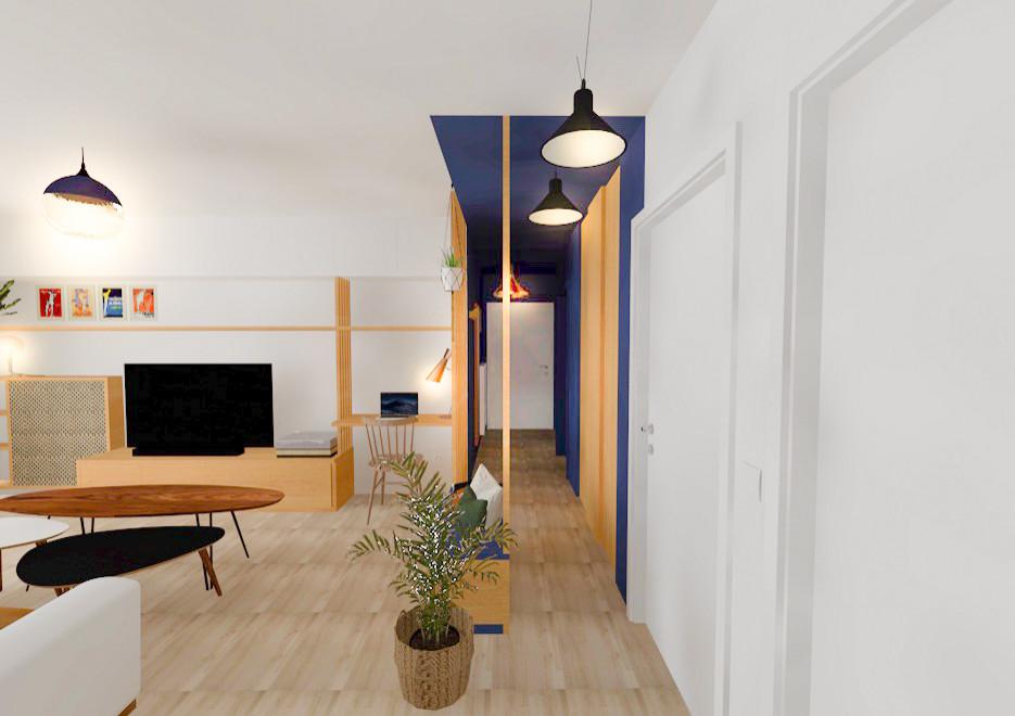 Appartement bleu