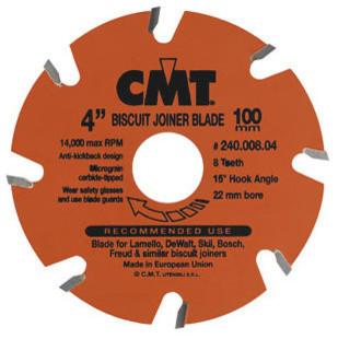 Biscuit Joiner Blade, 4 Diameter X 6 Teeth, Ptfe-Coated.