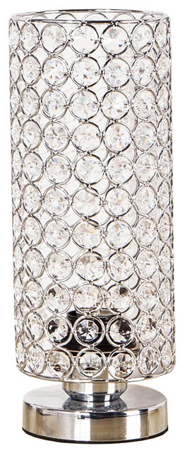 Crystal Table Lamp, Sturdy Decorative Living Room Lamp, Night Light Lamp.