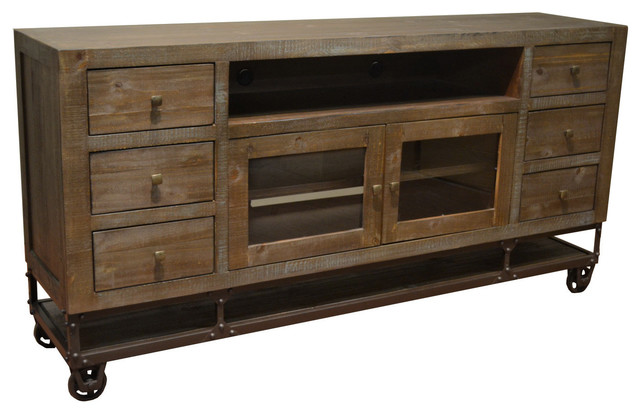 Greenview 7forged Iron Base Tv Stand.