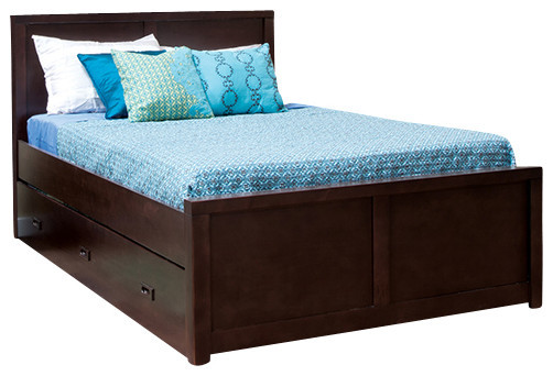 Peyton Full Trundle Storage Bed   Contemporary   Kids Beds   by