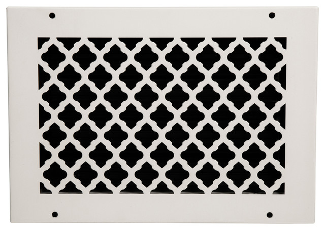 Solid Steel Return Vent Cover, White, Fits Duct Opening 12x8.