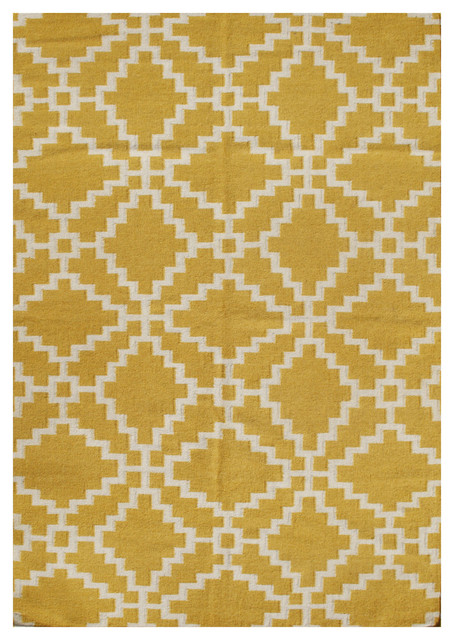 Dorothy Geometric Rug Mustard and Beige 9x12 Area Rugs by