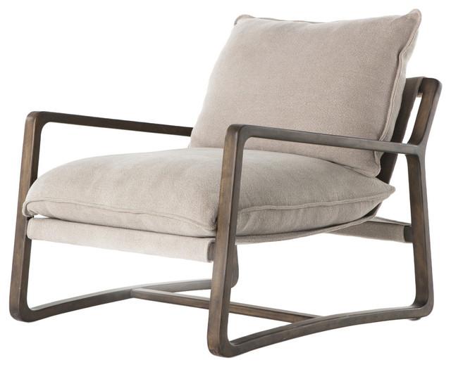 Sensational Abbott Ace Chair With Wood Frame Cobblestone Jute Evergreenethics Interior Chair Design Evergreenethicsorg