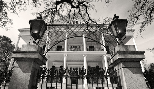 Buckner mansion garden district new orleans fine art black and white photography