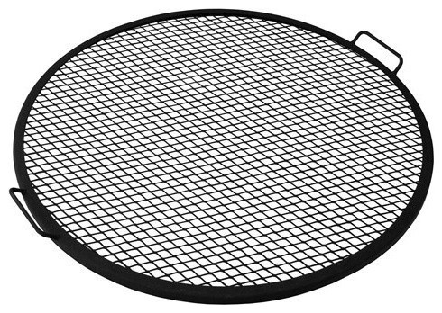 Sunnydaze Decor 36 Inch Outdoor Fire Pit Cooking Grill.