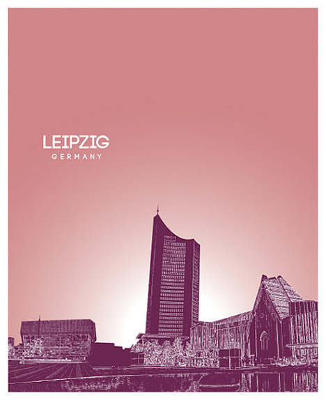 Leipzig Germany Skyline Pop Art Poster Contemporary Prints And Posters By You Yoursprints