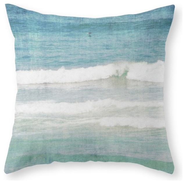 OCEAN Throw Pillow - Beach Style - Decorative Pillows - by Society6