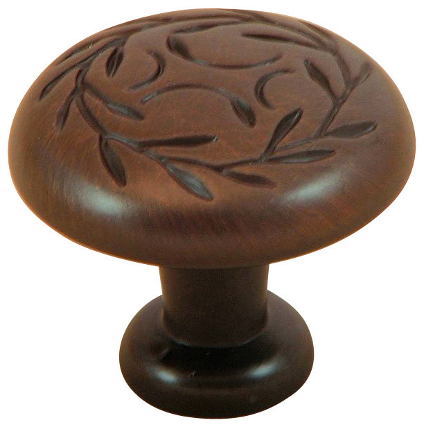 Stone Mill Hardware Leaf Cabinet Knob - Cabinet And Drawer Knobs - by ...