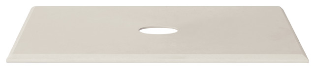 "Ronbow Signature Series Brit 27"" Techstone Stone Vanity Beveled Top, White."