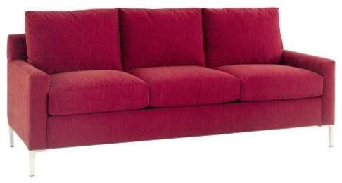 Lazar Soho Prosuede Paprika Fabric Sofa