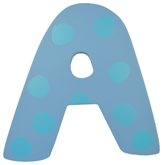 blue polka dot wall letter   a   modern   wall letters