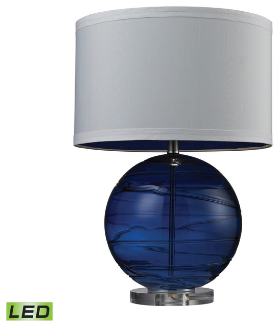 Dimond lighting blown glass table lamp view in your room houzz blown glass 1 light table lamp sapphire contemporary table lamps mozeypictures Choice Image