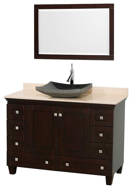 Single Bathroom Vanity Espresso 48 With 24 Mirror Vanities