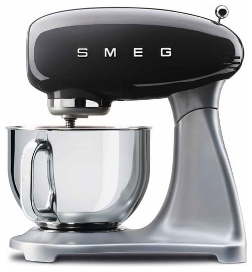 Smeg 5 Quart Stand Mixer, Black.