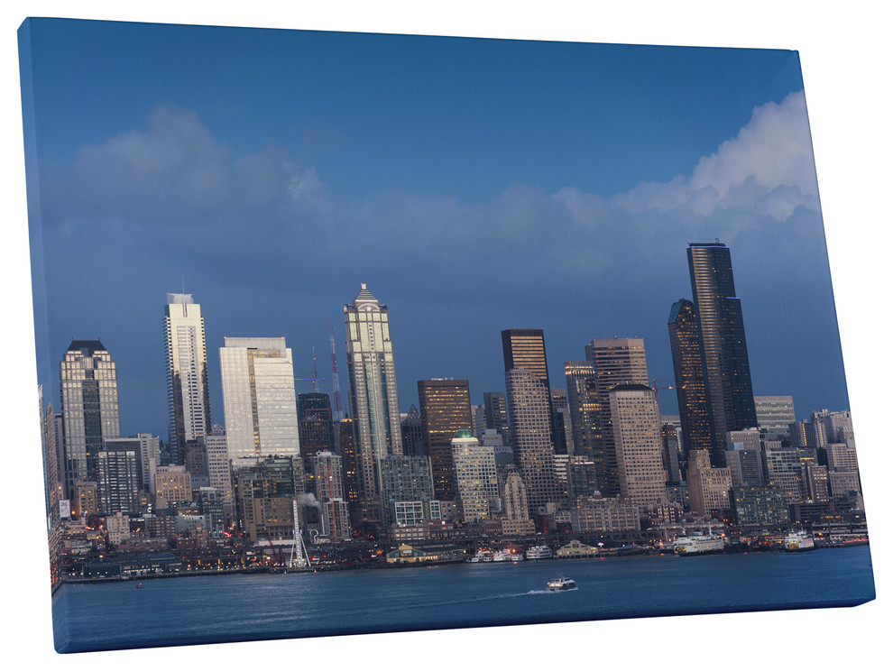 Seattle Skyline Gallery Wrapped Canvas Wall Art Contemporary Prints And Posters By Pingoworld