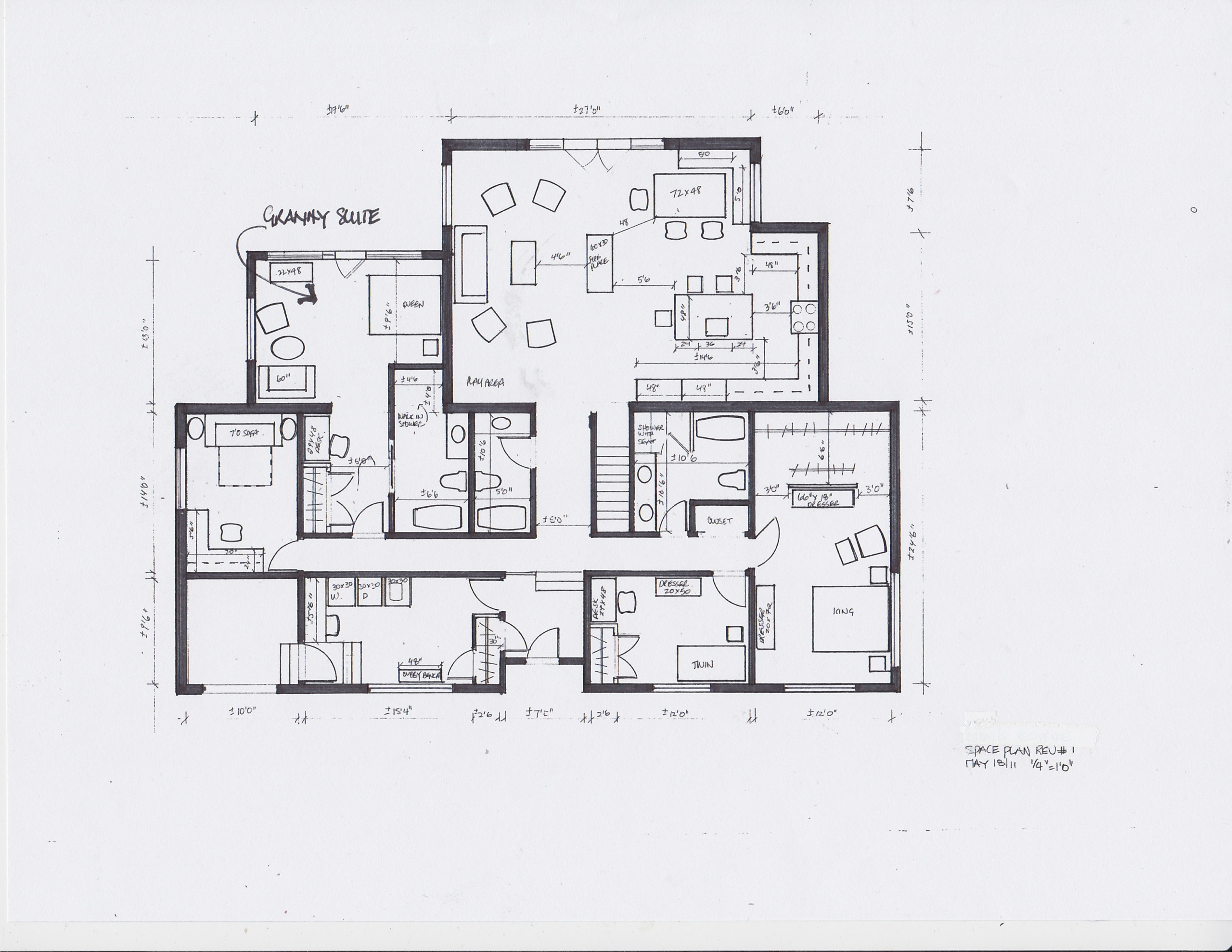 living in place space plans- granny suite