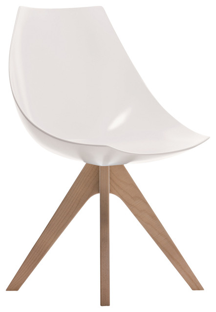 Gamma Modern Side Chair, Hard Polyurethane,