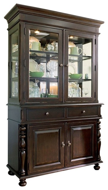 Wondrous Paula Deen Home 932680C China Buffet With Hutch Tobacco Home Remodeling Inspirations Cosmcuboardxyz
