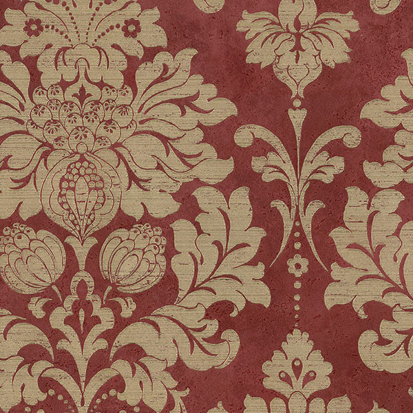 Large Red And Gold Damask Md29421 Wall Covering
