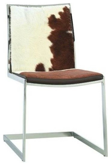 Luna Cowhide Sled Base Dining Chair