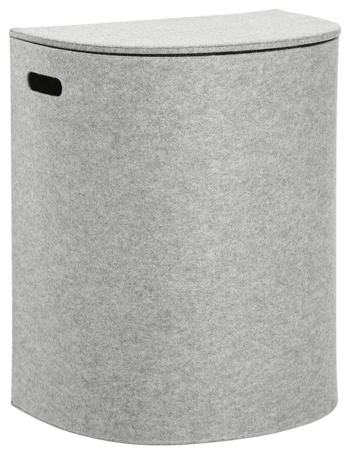 Morom laundry hamper with lid black contemporary housekeeping by cinas - Modern hamper with lid ...