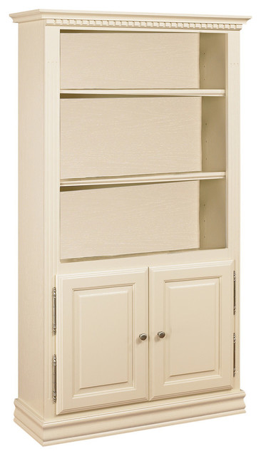 Rochester Ivory Bookcase With Doors Bookcases By Bebe
