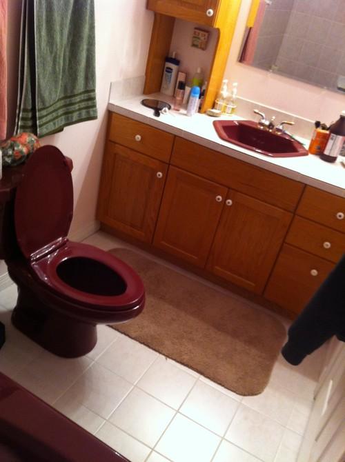 Wine Colored Fixtures In The Bathroom - Colored bathroom fixtures